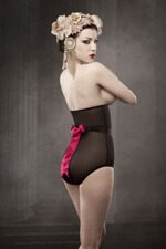 Cerise Jezebel longline brief, Kiss me Deadly