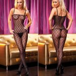 Crotchless Bodystocking, Electric Lingerie EH412-BLK